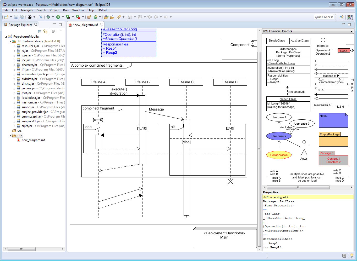 Umlet Free Uml Tools For Fast Uml Diagrams